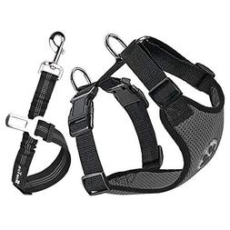 SlowTon Dog Car Harness Plus Connector Strap, Multifunction