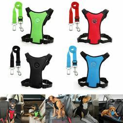 Dog Car Safety Harness Adjustable Mesh Vest Harness Travel S