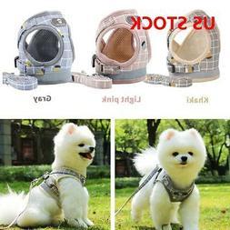 Dog Cat Vest Harness and Lead C Adjustable Reflective Strap