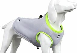 SGODA Dog Cooling Vest Harness Cooler Jacket Grey Green X-La