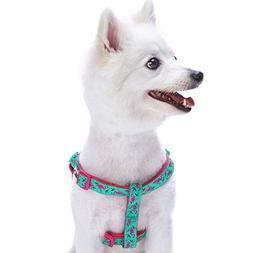 Blueberry Pet Step-in Pink Flamingo on Light Emerald Dog Har