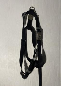 Dog Harness and Leash Black Top Paw