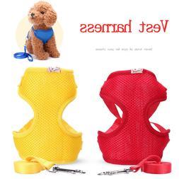 Dog Harness and Leash Set Pet Cat Vest Harnesses Mesh Padded