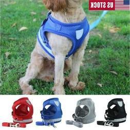 Dog Harness Lead Leash Mesh Vest Padded Travel Seat Belt For