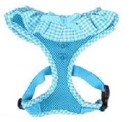 "Puppia Dog Harness Medium - Aqua Sky Blue 14-21"" Chest Authe"