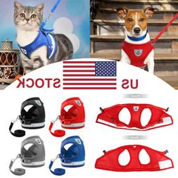 Dog Harness Pug Dog Puppy Nylon Cat Harnesses Vest Reflectiv