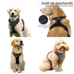 Dog Harness Reflective No Pull Pet Adjustable Outdoor Vest S