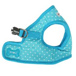 Puppia - Dog Puppy Harness Soft Vest - Dotty - Blue - S, M,