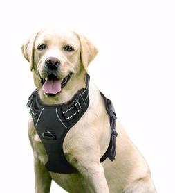 Dog Harness Vest No Pull Reflective LARGE Soft Oxford Easy W