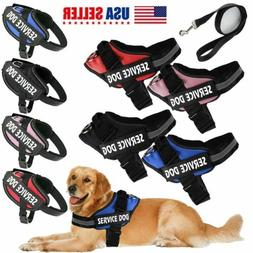 Dog Harness walk No Pull Vest tactical Heavy Duty Service Pa