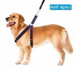 Lifepul Dog Leash Harness Collar Set  Adj Heavy Duty Denim S