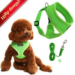Dog Leash Set Adjustable Vest Harness - Small Medium Large D
