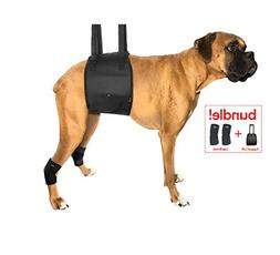 Dog Lift Harness Bundled with Rear Leg Brace Support Wraps -
