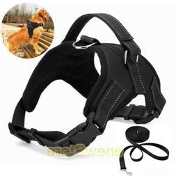 Dog Pet Vest Harness Leash Collar Set No Pull Adjustable for