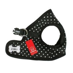 Puppia - Dog Puppy Harness Soft Vest - Dotty - Black - S, M,
