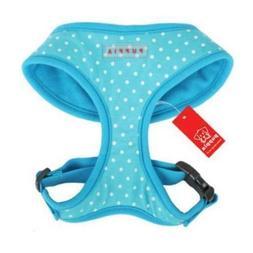 Dog Puppy Soft Harness - Puppia - Dotty - Blue - Choose Size