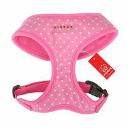 Puppia - Dog Puppy Soft Harness - Dotty w White Dots - Pink