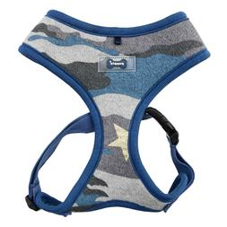 Puppia - Dog Puppy Soft Harness - Ensign - Blue Camo - Small