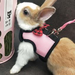 Dog Rabbit Mesh Harness vest Lead for Cat Teacup Chihuahua Y
