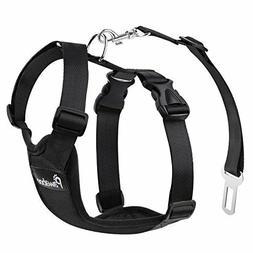 Dog Safety Vest Harness, Pet Dog Adjustable Car Safety Mesh