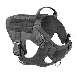 ICEFANG Large Dog Tactical Harness,Military K9 Working Dog M