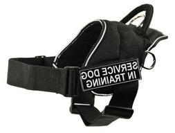 DT Fun Works Harness, Service Dog In Training, Black With Re
