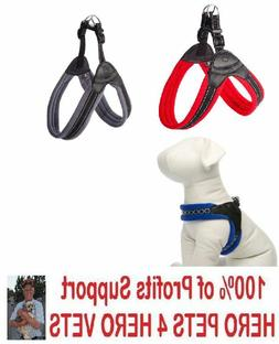 Top Paw Easy Fit Dog Harness Gray Red Blue Padded XS S M L X