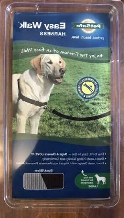 PetSafe Easy Walk Dog Harness Size Large Black Silver New