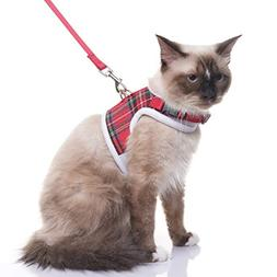 EXPAWLORER Escape Proof Cat Harness with Leash- Soft Mesh Cl