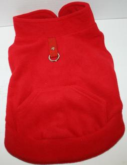 EXPAWLORER Fleece Dog Vest Harness Sweater Coat w/Pocket - R