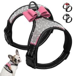 Fancy Rhinestone Dog Harness Small Medium Dogs Vest Harness