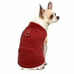EXPAWLORER Fleece Autumn Winter Cold Weather Dog Vest Harnes