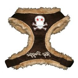 Fur Skull Dog Harness Vest Size: Extra Extra Small, Color: B