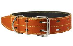 """Genuine Thick Leather Dog Collar 20""""-27"""" Neck Size, 1.75"""" Wi"""