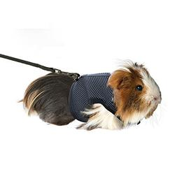 Rely2016 Guinea Pig and Rabbit Soft Mesh Harness with Leash,