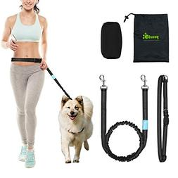 Hands Free Waist Dog Leash 1.2m with Bungee and Dog treat po