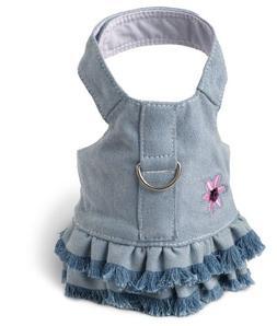 Harness Dress - Denim XXS Blue Jean Fringe  -
