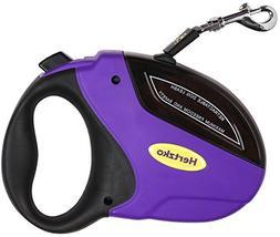 Heavy Duty Retractable Dog Leash by Hertzko - Great for Smal