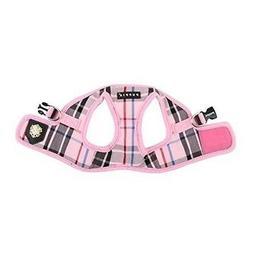 Puppia Junior Dog puppy Step-in Soft Harness Pink Plaid XL