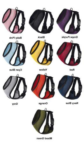 10 Colors 5 Sizes Mesh Padded Soft Puppy Pet Dog Harness Bre