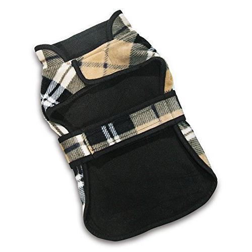 Best Supplies 250-DBC-M Voyager Fleece Jacket, Medium, Checkers