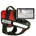 Bark Outfitters Service Dog Harness SIZE M w/ 50 ADA Info Ca