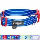 "Blueberry Pet Collars For Dogs 1"" Large Royal Bon Voyage Nau"