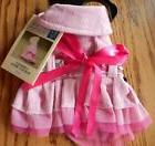 East Side Collection Dog Pink Corduroy Harness Dress  Teacup