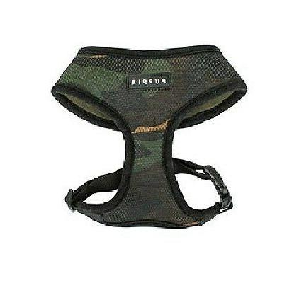 Genuine PUPPIA Soft Mesh Dog Harness Collar XS Camo