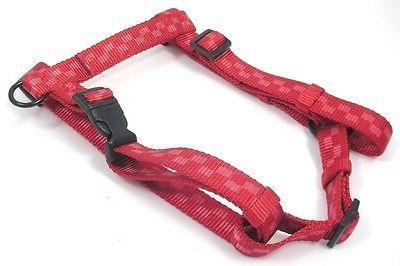 HAMILTON Adjustable Nylon Comfort Dog Harness, Medium, Red C