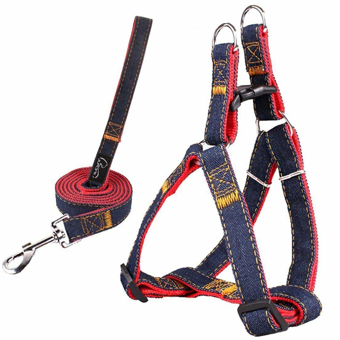 Lifepul Dog Collar Set Duty Denim Blue & Red