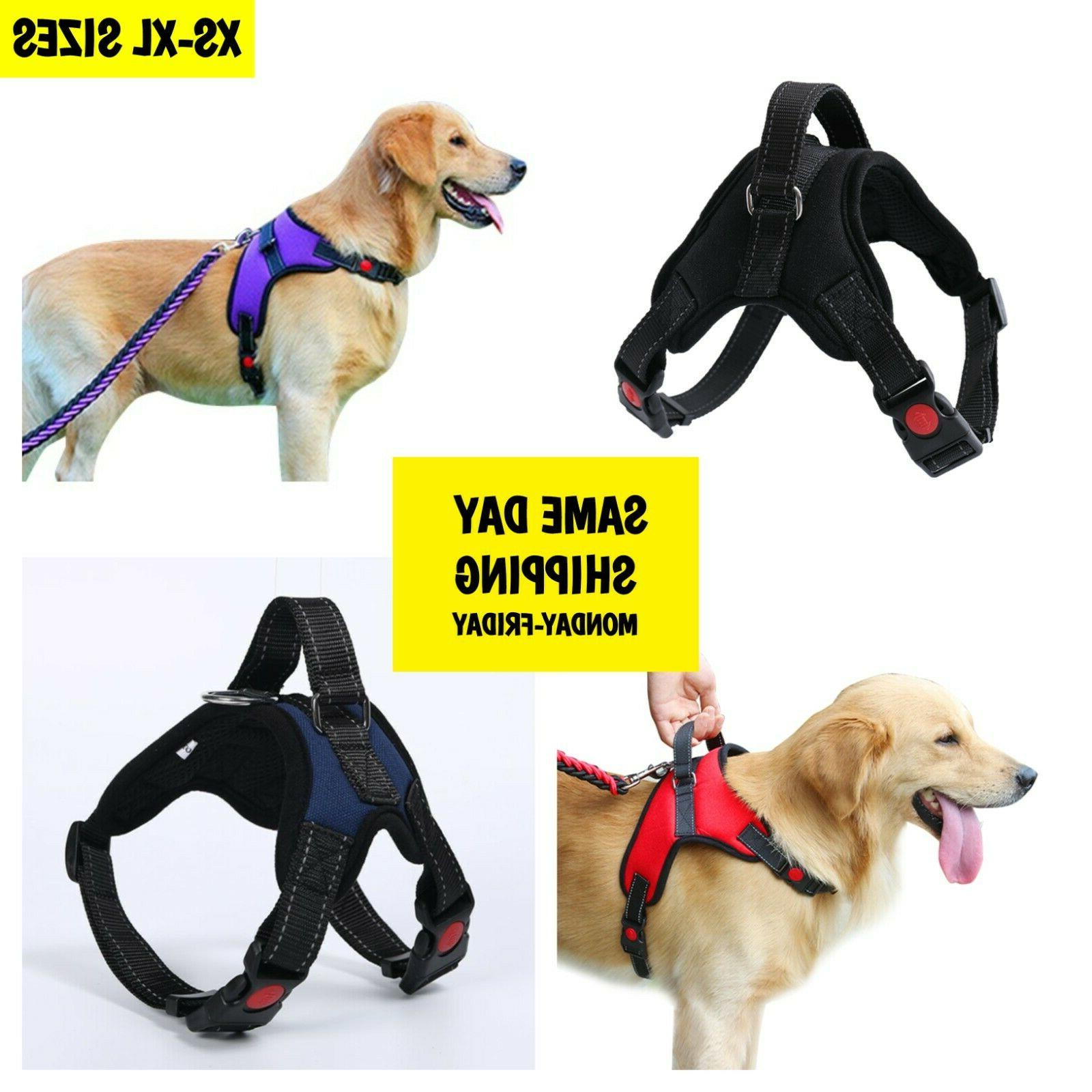 adjustable no pull dog vest harness
