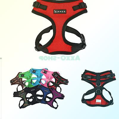 authentic ritefit harness with adjustable neck red