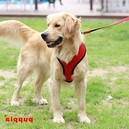 Authentic Puppia Soft Harness, Red -